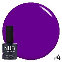 Гель-лак Glass Gel №4 фиолетовый 11,8мл NUB