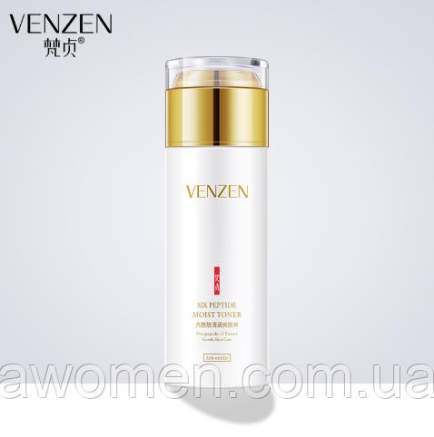 Освіжаючий тонер для особи Venzen Six Peptide Moist Toner з шістьма пептидами 120 ml