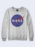 Свитшот NASA космос серый