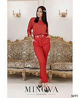 Женский костюм красный, фото 1