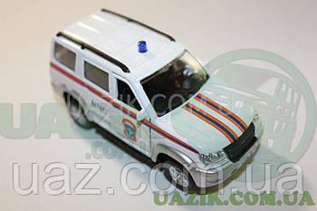 """Модель УАЗ 1/43 PATRIOT """"AUTOTIME"""" МНС"""