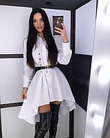 """Платье-рубашка женское """"Мариарти"""" (черное и белое), фото 1"""