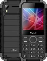 Мобильный телефон Nomi i285 X-Treme Dual Sim Black/Grey, 2.8 (320х240) IPS / клавиатурный моноблок / MediaTek MT6261D / ОЗУ 32 МБ / 32 МБ встроенной /