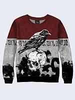 Свитшот Raven and skull