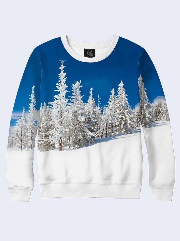 Мужской свитшот Snow-white winter forest