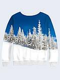 Мужской свитшот Snow-white winter forest, фото 2