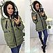 Куртка пуховик зимова жіноча, фото 4