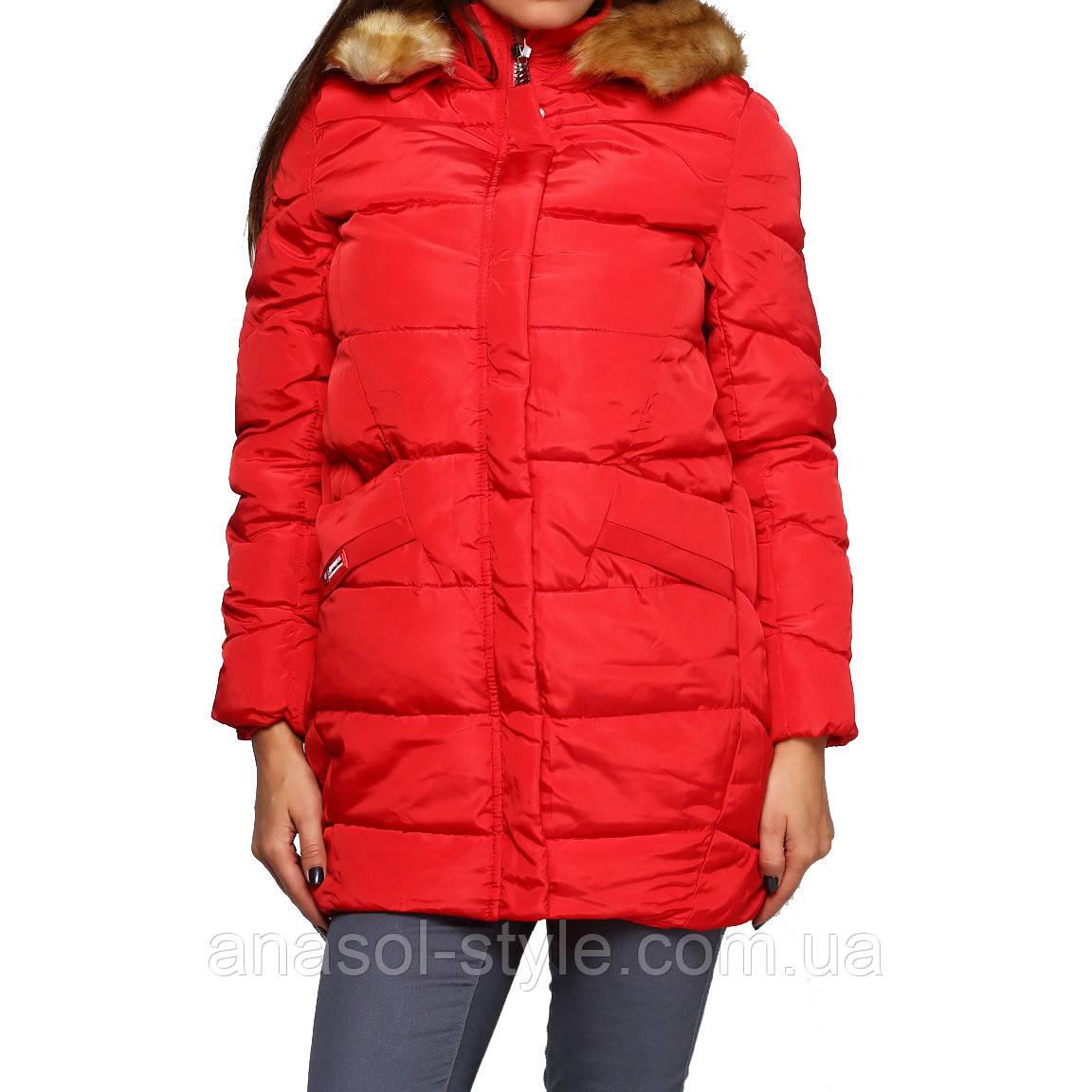 Модная куртка пуховик  зимняя женская