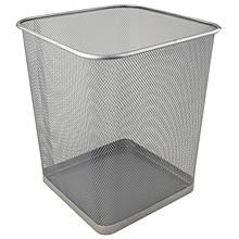 Кошик для паперів квадратна 270х300мм метал., срібляста