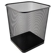 Кошик для паперів квадратна 270х300мм метал., чорна
