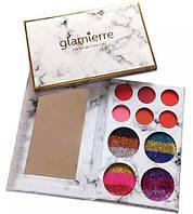 Набор теней и глиттеров Glamierre Rainbow
