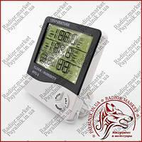 Термометр с измерением влажности и часами HTC-2 (Измерение внутренней и наружной температуры)