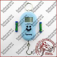 Электронные ручные весы (кантер, безмен) до 50 кг. В форме смайлика.