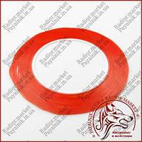 Скотч 3M двосторонній ширина 1мм червоний (0.25 мм, 30м)