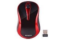 Мышь беспроводная A4Tech G3-280N Black/Red USB V-Track