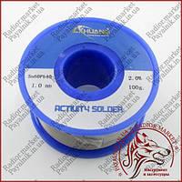 Припій Lichuang Sn60Pb40 1.0 mm 100g з вмістом каніфольного флюсу.