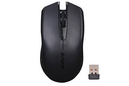 Мышь беспроводная A4Tech G3-760N Black USB V-Track, фото 2