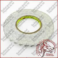 Скотч 3M двосторонній ширина 10мм білий (0.3 мм, 40м.)
