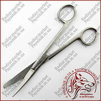 Ножиці операційні вигнуті з одним гострим кінцем 170мм