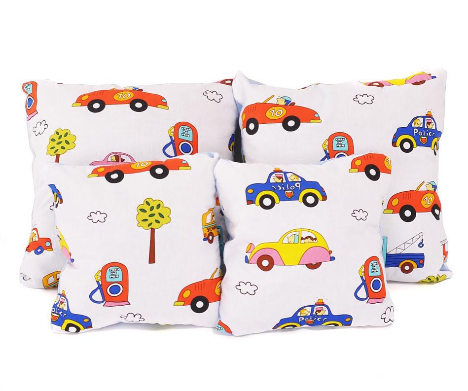 Набір подушок бавовна Транспорт (4 шт)