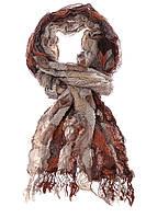 Шарф женский 133P008 (Кирпично-бежевый)