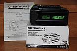 Аккумуляторная цепная пила GreenWorks G-MAX 40V 16-inch DigiPro GD40CS40 (20312) с аккумулятором  6 А.ч., фото 8