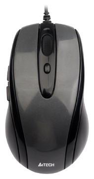 Миша A4 N-708X-1 Glossy grey, USB V-Track