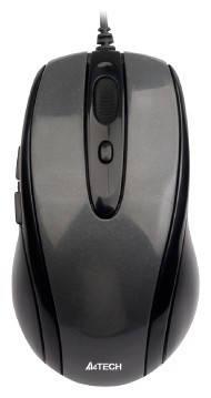 Миша A4 N-708X-1 Glossy grey, USB V-Track, фото 2