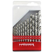 Набор сверл по металлу HSS - (2-8)х5мм, 10шт (HAISSER)