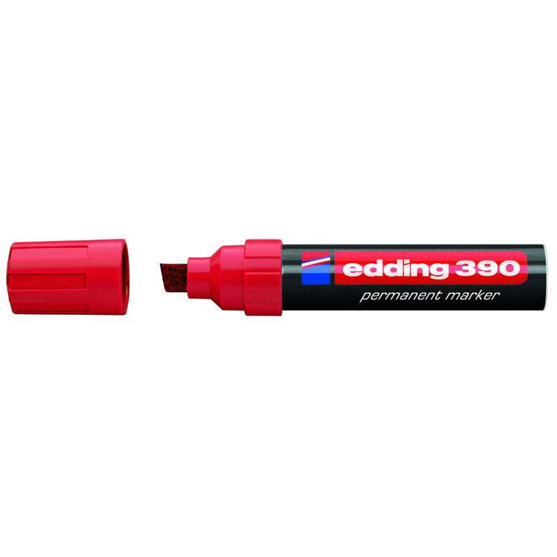 Маркер Permanent e-390 4-12 мм клиновидн. красный
