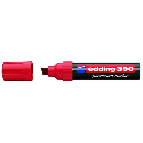 Маркер Permanent e-390 4-12 мм клиновидн. красный, фото 2