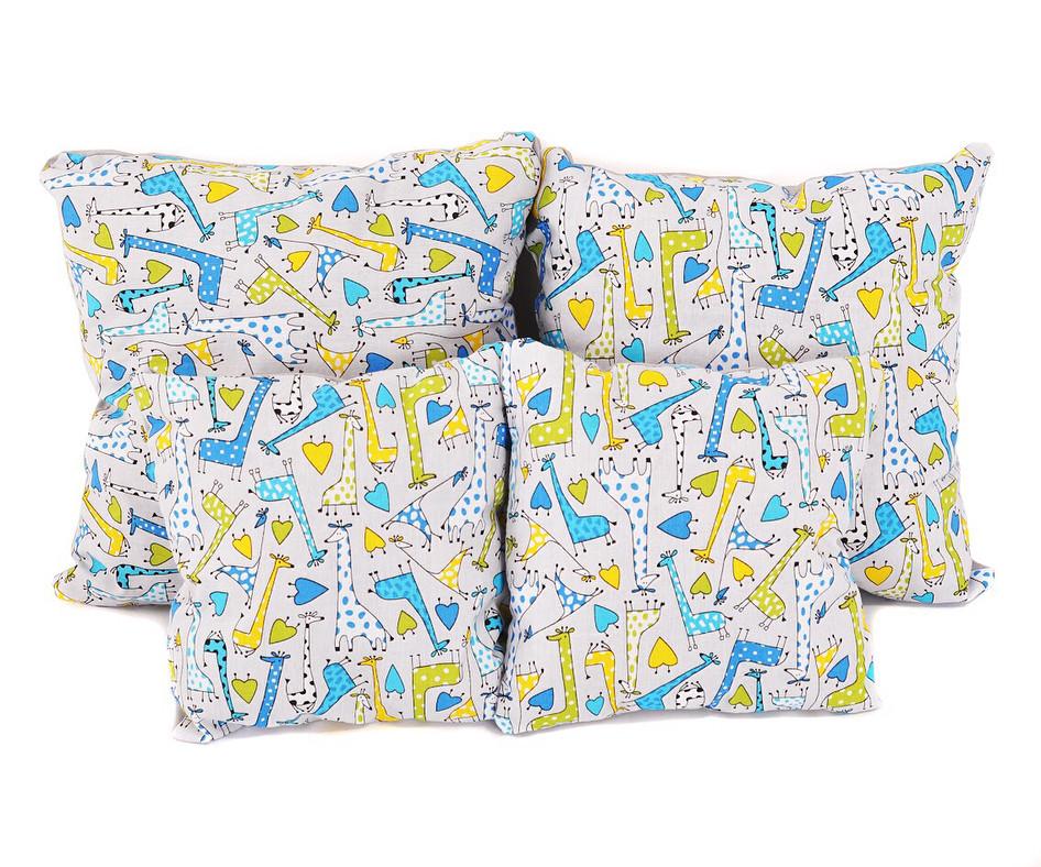 Набір подушок бавовна  Жирафи (4шт)