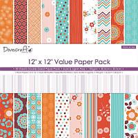 Набор бумаги от Dovecraft - More or Less, 30x30 см, 10 листов