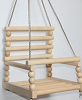 Детская качеля №4 K-0161 БУК | качелька для ребенка | деревянная подвесная качеля