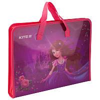 Папка-портфель на молнии, 1 отделение, A4, Kite, Princess