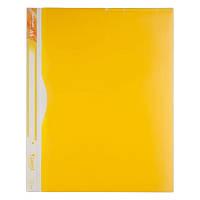 Папка-уголок,5 отделений,A4,желтая