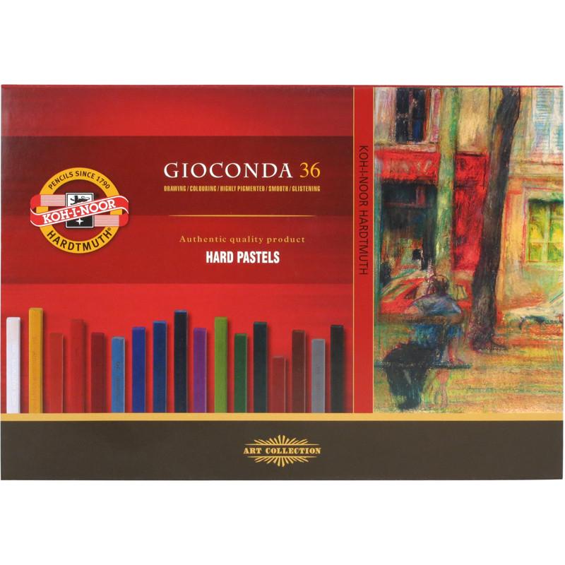 Пастель твердая GIOCONDA, 36 цветов