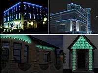 Реклама на зданиях с помощью светящейся краски