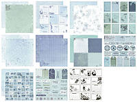 "Набор бумаги ScrapBerry""s — Winter collection, 30,5x30,5 см, 11 листов"