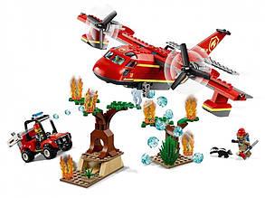 """Конструктор Сити 11214 """"Пожарный самолет"""" Lari (аналог Lego City 60217) 381 дет"""