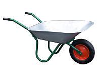 Большая садовая/строительная оцинкованная тележка до 150кг