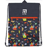Сумка для обуви с карманом Kite Education 601L-2 VIS