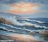 Картина Море. Холст, масло, рама 65х50 см