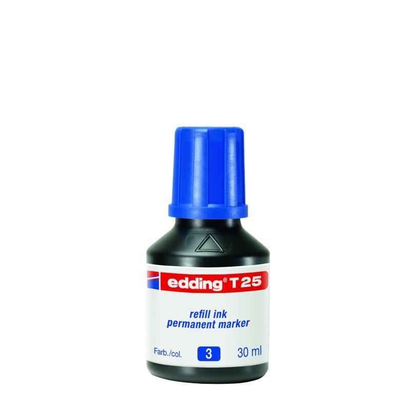 Чернила для заправки Permanent e-T25 синие