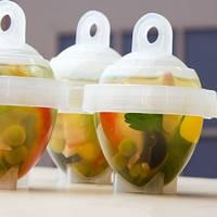 Набор контейнеров для варки яиц Лентяйка (6шт), Формы для яиц