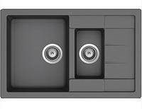 Мойка гранитная SCHOCK Manhattan D-150S Croma 60 см (левосторонняя) gray