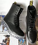 Легендарные! Dr. Martens Jadon демисезонные кожаные ботинки  на платформе с шнуровкой черные мартенсы, фото 2