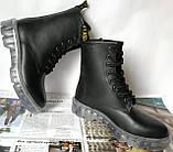 Легендарные! Dr. Martens Jadon демисезонные кожаные ботинки  на платформе с шнуровкой черные мартенсы, фото 9