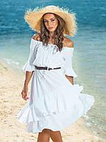 Платье женское с двухслойной юбкой