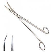 Ножиці по Metzenbaum, для розтину м'яких тканин, вертикально- зігнуті, з твердосплавом SURGIWELOMED. Довжина 23,0 см